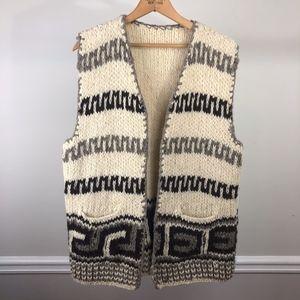 Vintage Boho Hand-knit Vest